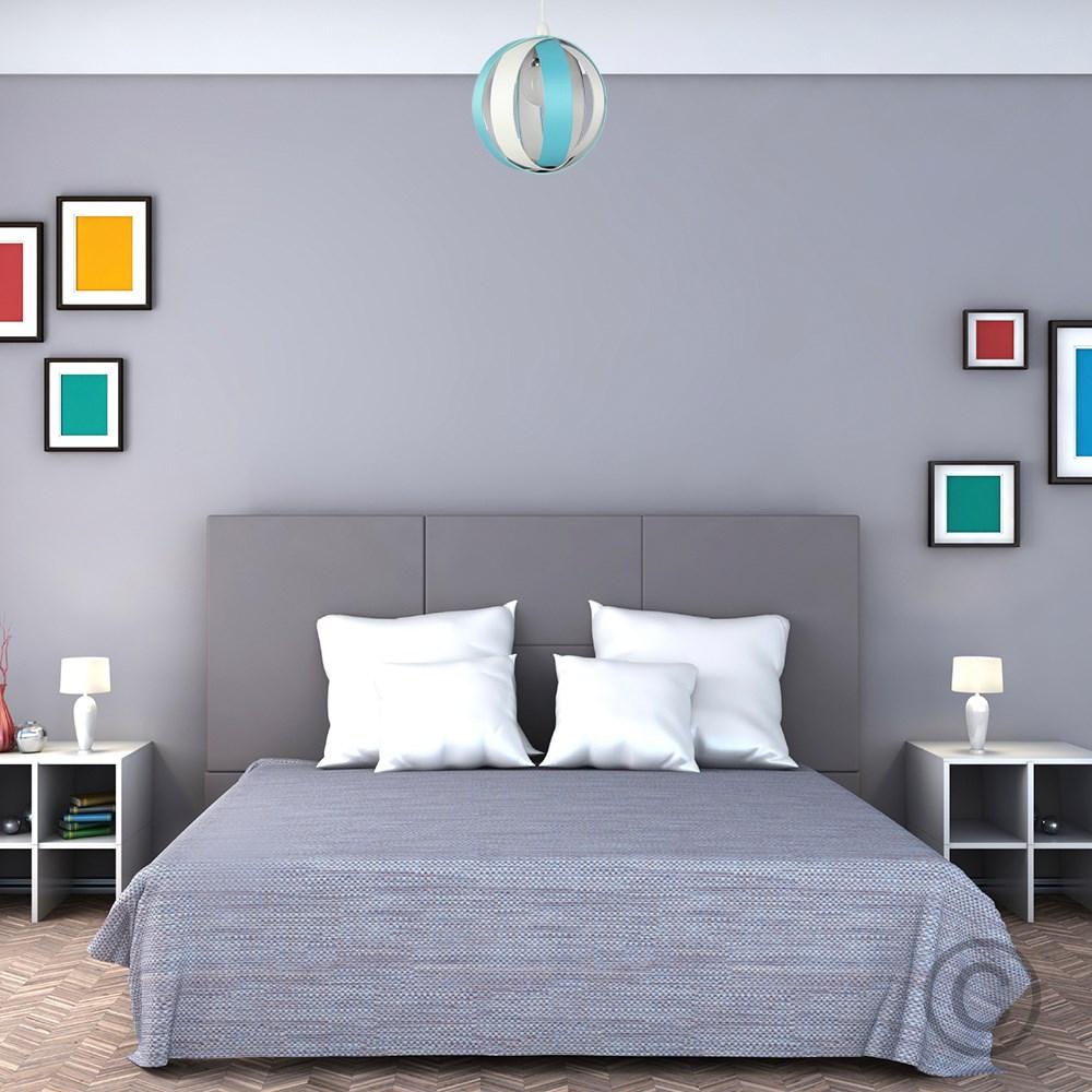 Minisun-Globe-DEL-plafond-lumiere-pendentif-nuances-Abat-jour-eclairage-Ampoule-DEL miniature 31
