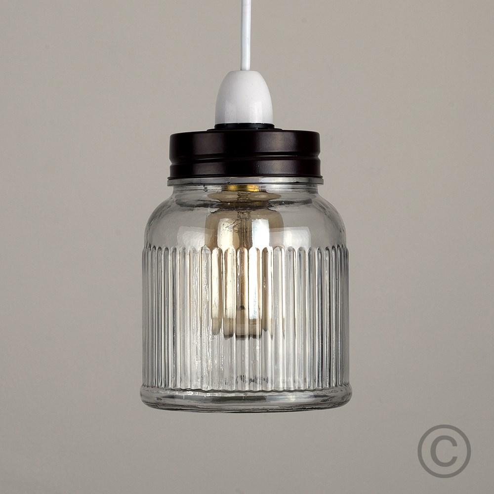 Vintage-Retro-Style-Jar-Gift-Ceiling-Pendant-Light-Lamp-Shades-Glass-Lighting thumbnail 5