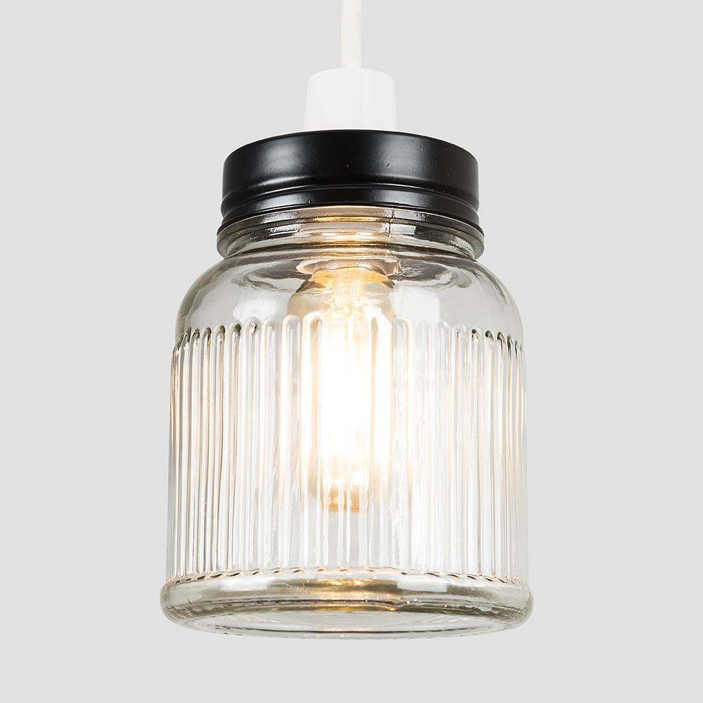 Vintage-Retro-Style-Jar-Gift-Ceiling-Pendant-Light-Lamp-Shades-Glass-Lighting thumbnail 6