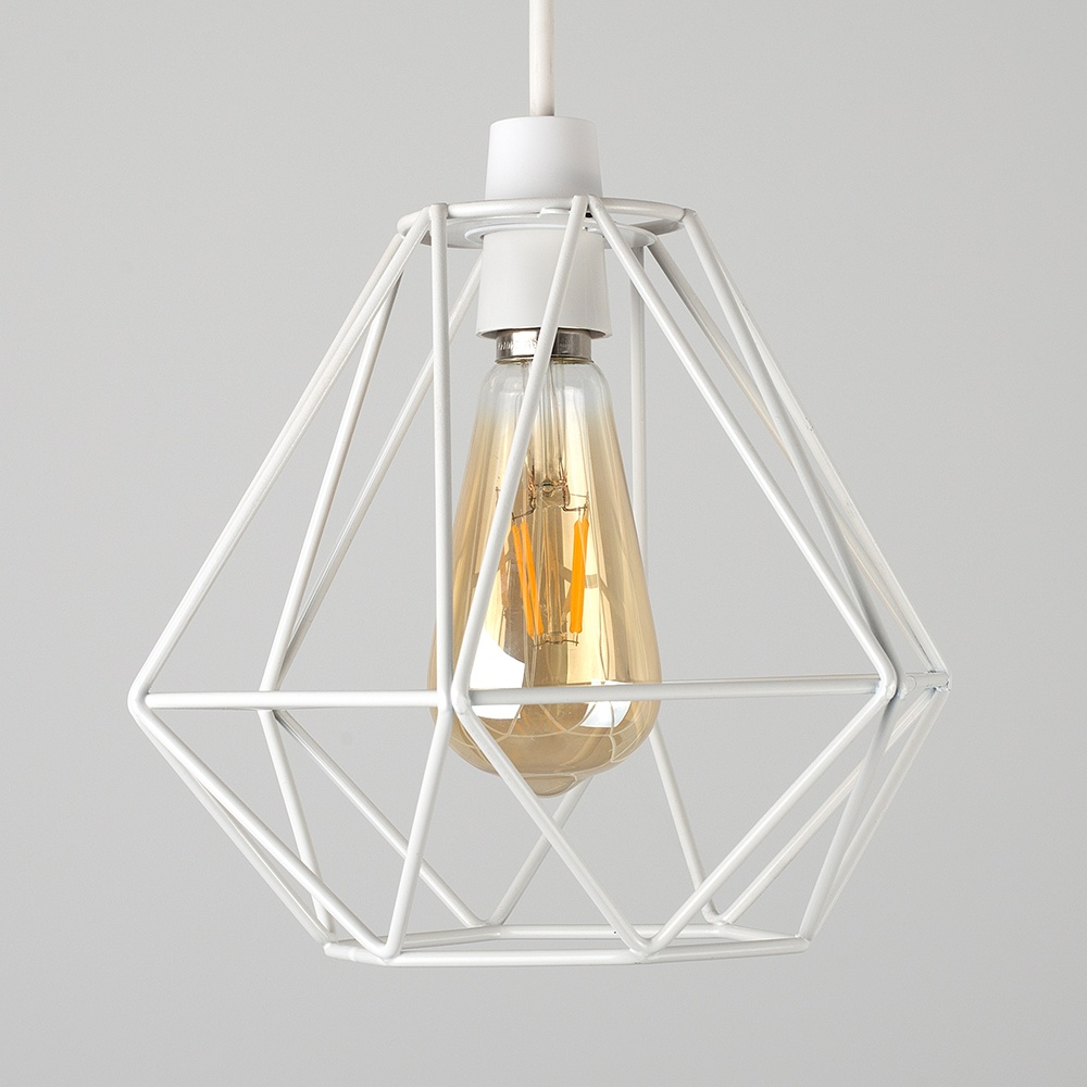 Details About Geometric Easy Fit Wire Ceiling Pendant Light Shades Modern Lighting