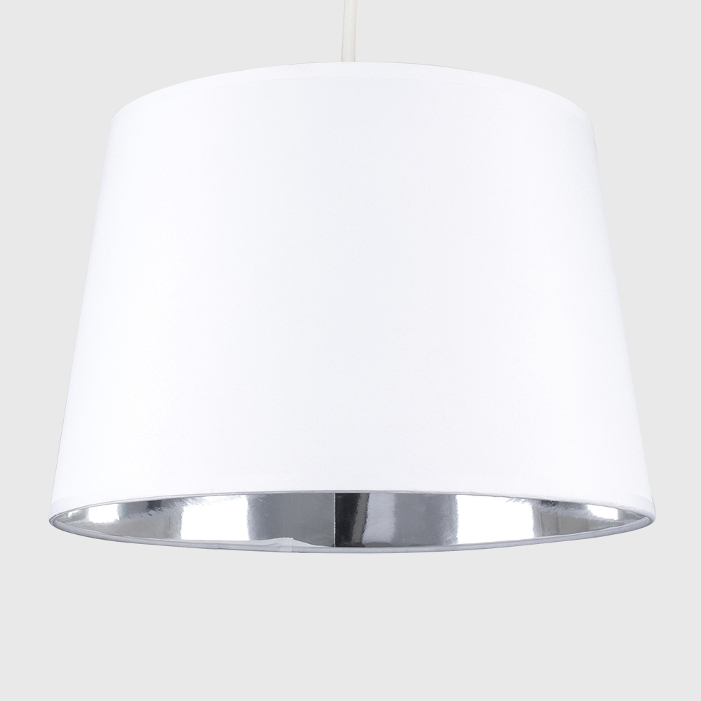 Moderno-Bianco-Da-Soffitto-Tavolo-O-Lampadario-Lampada-da-terra-paralume-colorato-interno miniatura 6