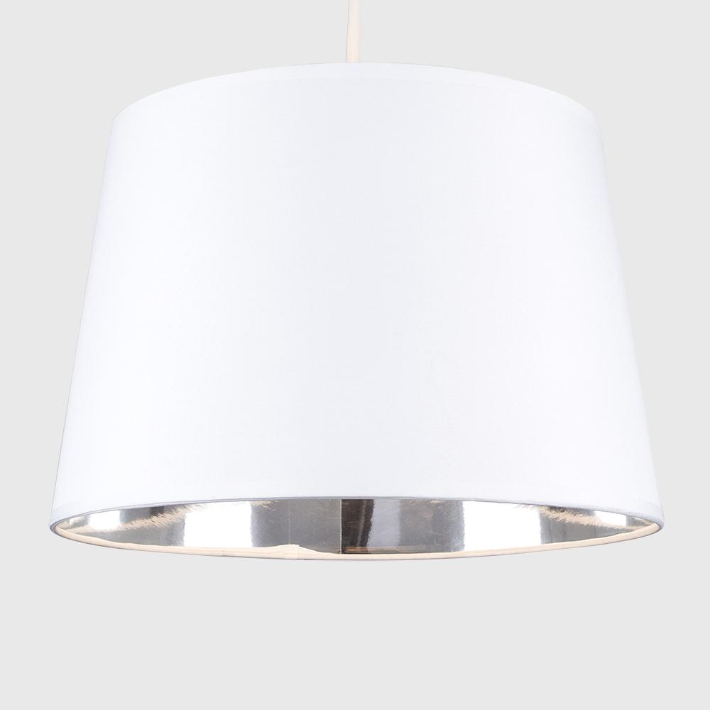 Moderno-Bianco-Da-Soffitto-Tavolo-O-Lampadario-Lampada-da-terra-paralume-colorato-interno miniatura 7
