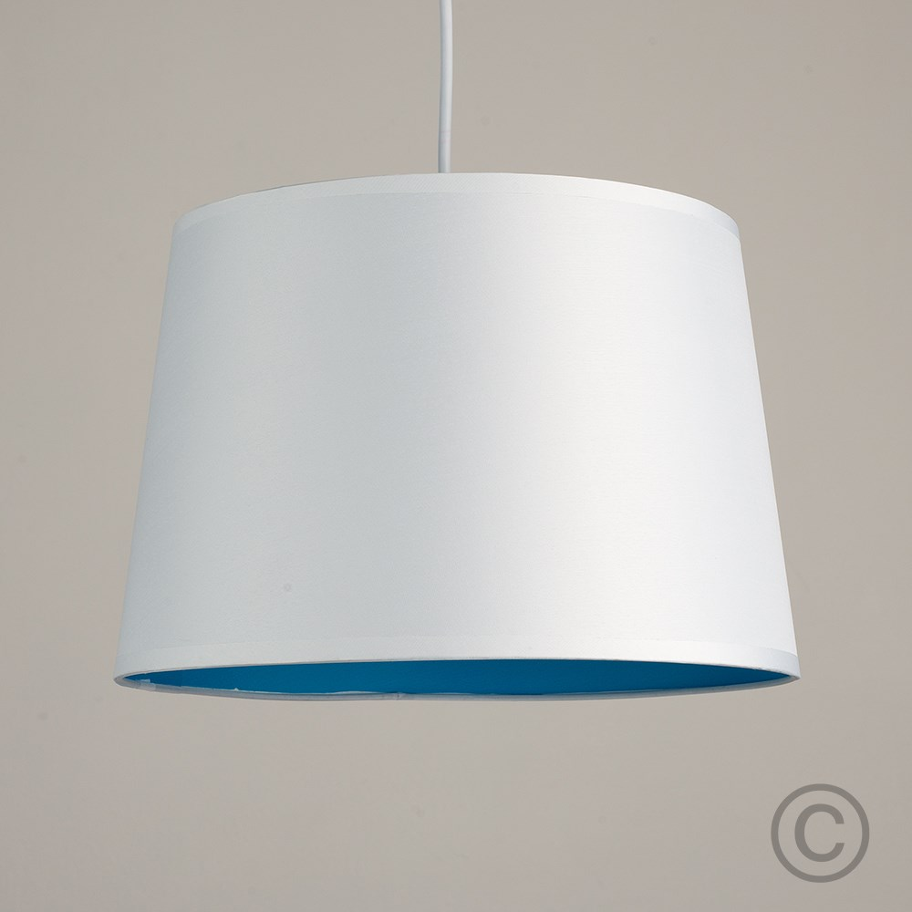 Moderno-Bianco-Da-Soffitto-Tavolo-O-Lampadario-Lampada-da-terra-paralume-colorato-interno miniatura 3