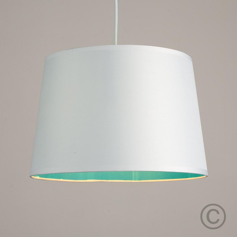Moderno-Bianco-Da-Soffitto-Tavolo-O-Lampadario-Lampada-da-terra-paralume-colorato-interno miniatura 4