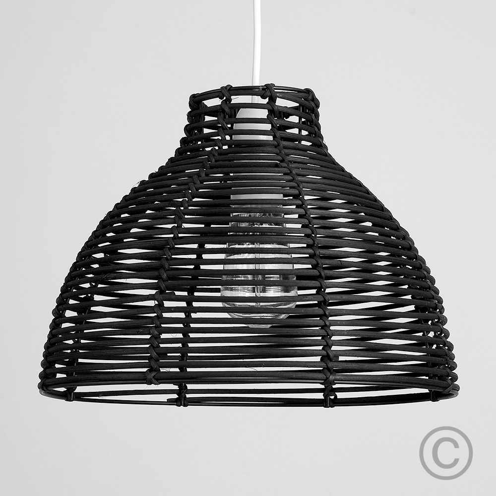Modern-Round-Rattan-Wicker-Style-Ceiling-Pendant-Light-Lamp-Shades-Lampshades thumbnail 3