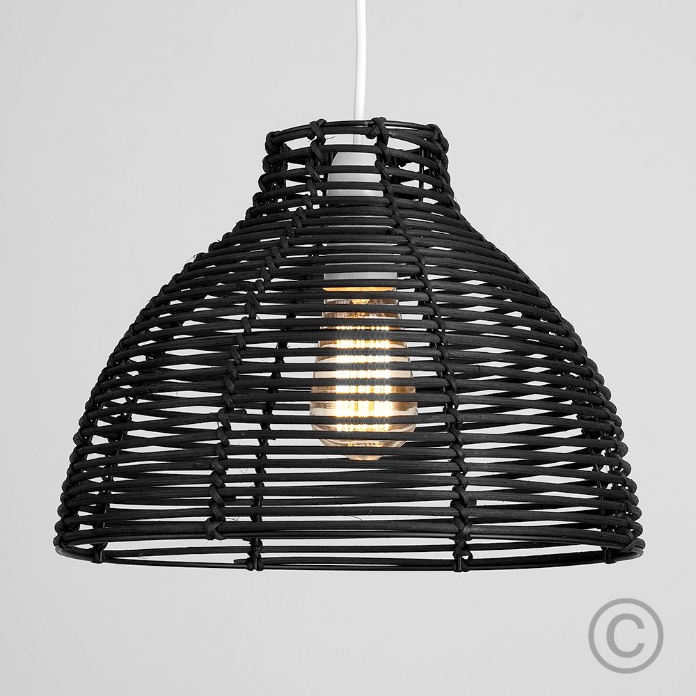 Modern-Round-Rattan-Wicker-Style-Ceiling-Pendant-Light-Lamp-Shades-Lampshades thumbnail 4