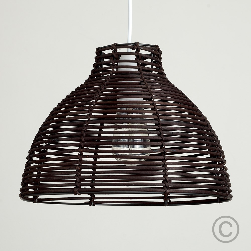 Modern-Round-Rattan-Wicker-Style-Ceiling-Pendant-Light-Lamp-Shades-Lampshades thumbnail 6