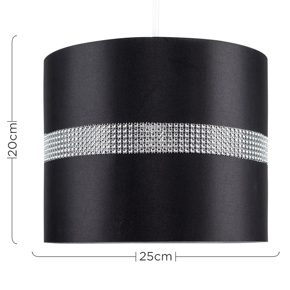 Diamante-non-elettrico-in-Tessuto-Cotone-Tamburo-Tonalita-Tavolo-O-Lampadario-Lampada-da-terra miniatura 6