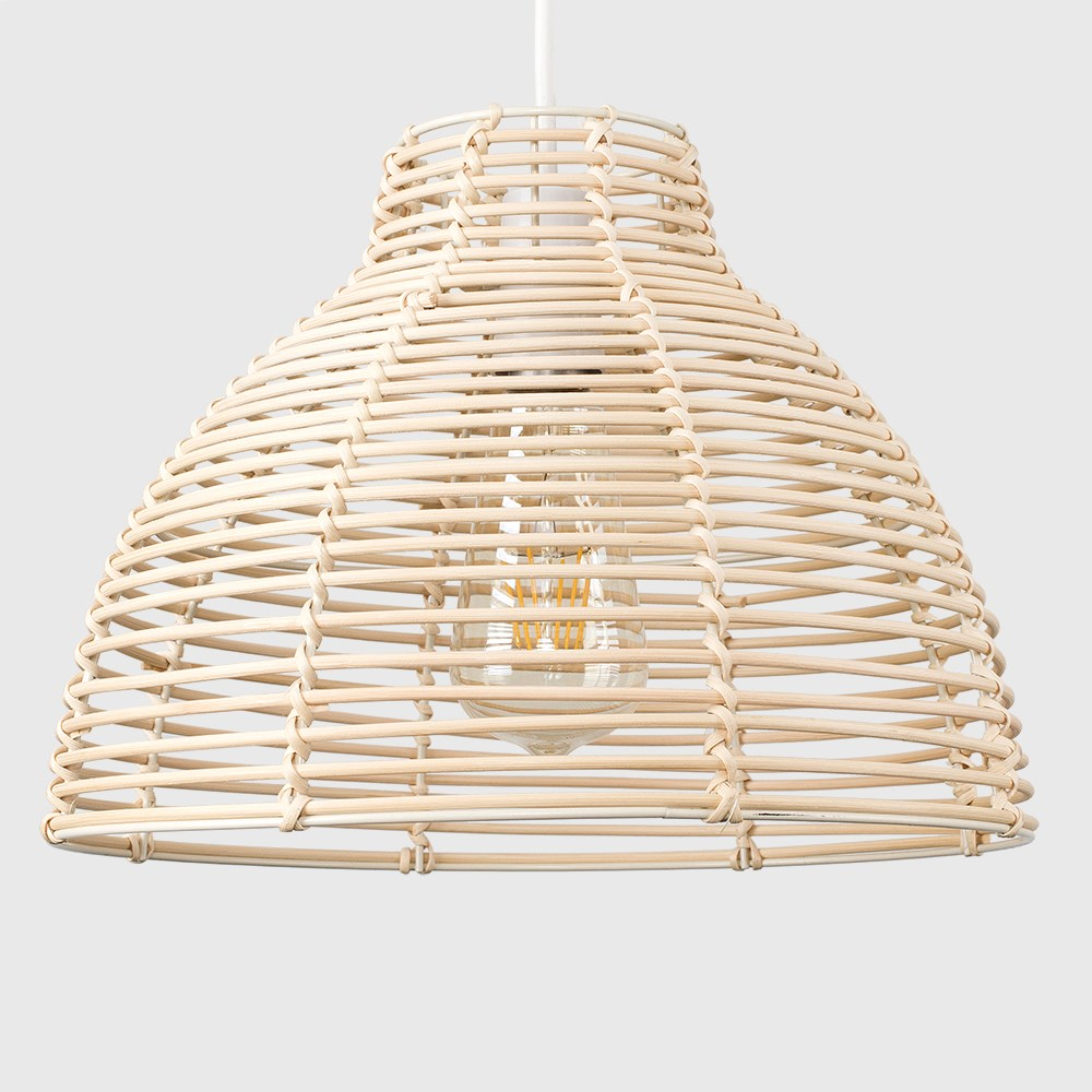 Modern-Round-Rattan-Wicker-Style-Ceiling-Pendant-Light-Lamp-Shades-Lampshades thumbnail 9