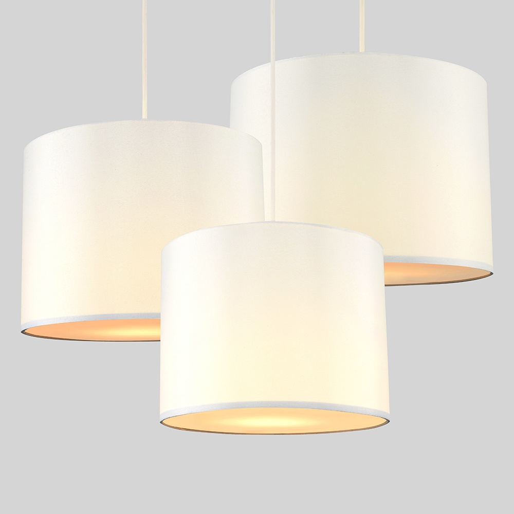 Set-of-3-Modern-Nesting-Non-Electric-Pendant-Shade-Fitting-Ceiling-Lampshade thumbnail 4
