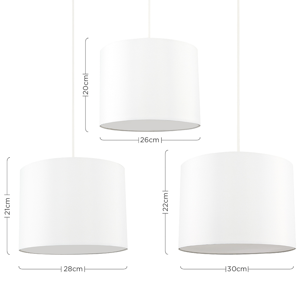 Set-of-3-Modern-Nesting-Non-Electric-Pendant-Shade-Fitting-Ceiling-Lampshade thumbnail 6