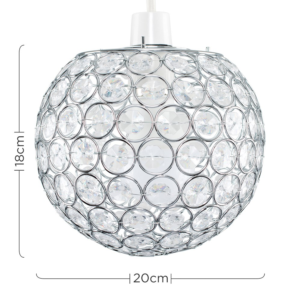 Modern-Chandelier-Easy-Fit-Ceiling-Pendant-Light-Shade-Acrylic-Glass-Shades thumbnail 22