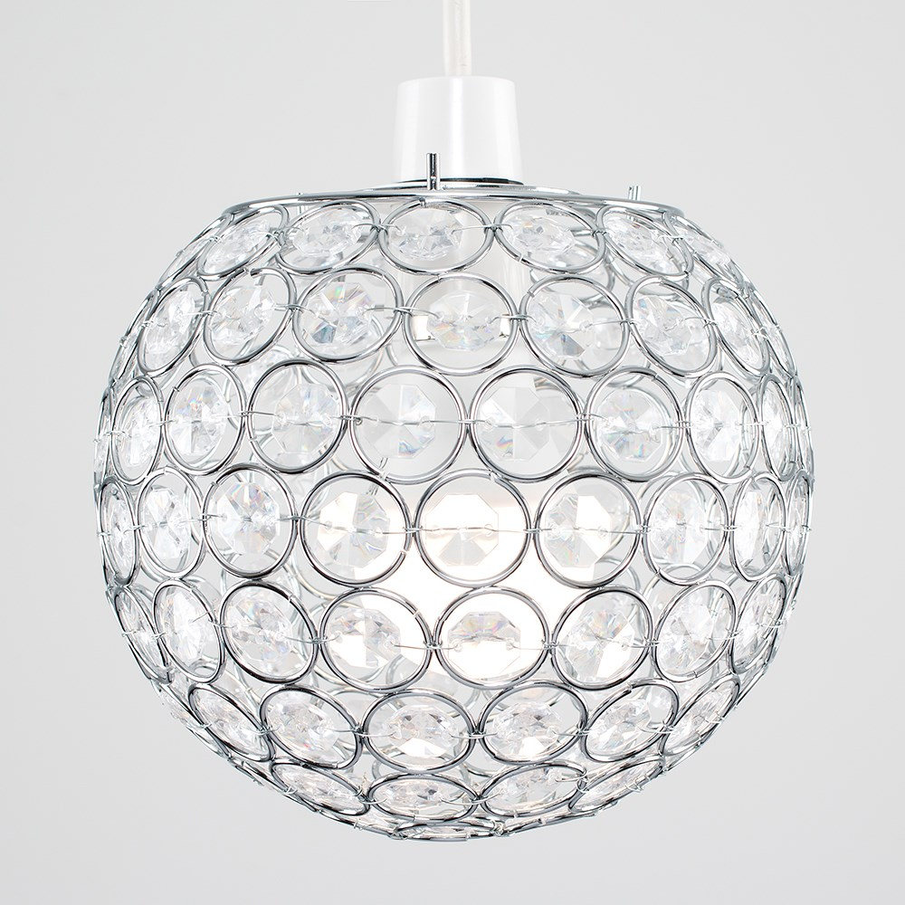 Modern-Chandelier-Easy-Fit-Ceiling-Pendant-Light-Shade-Acrylic-Glass-Shades thumbnail 18