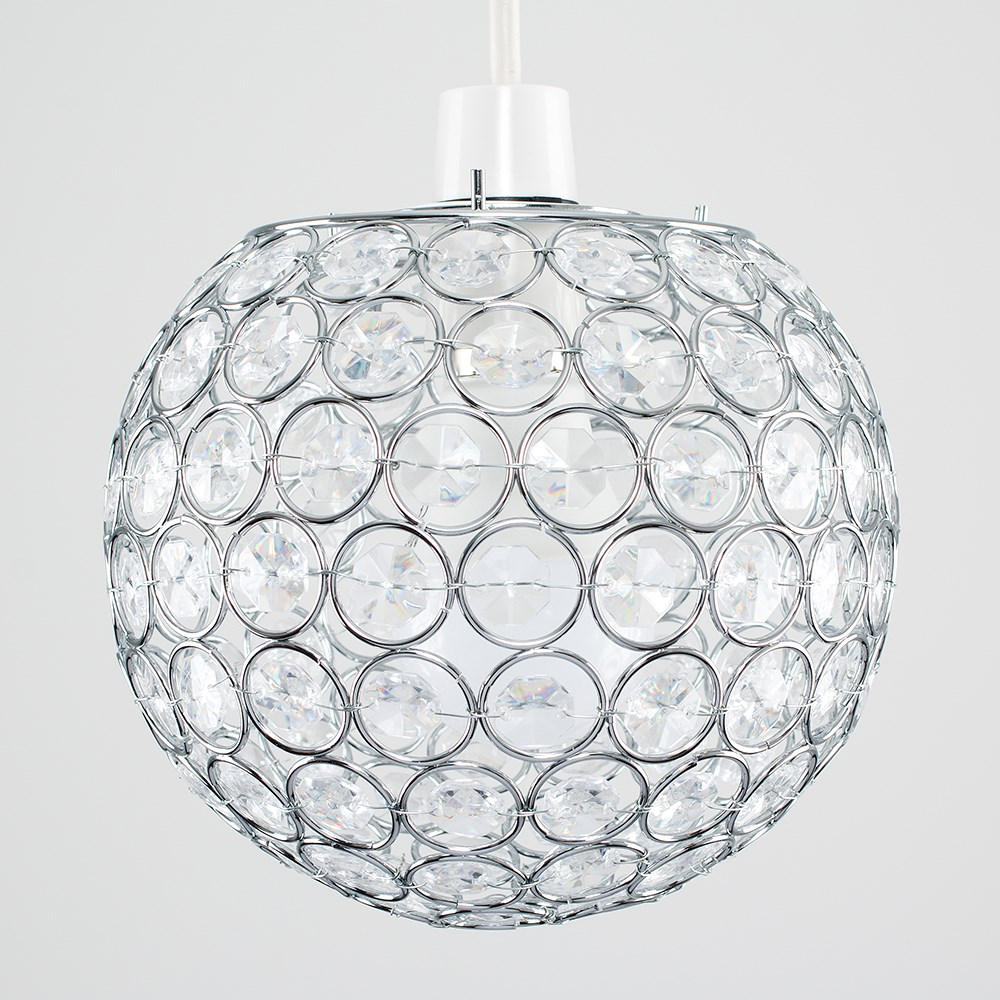 Modern-Chandelier-Easy-Fit-Ceiling-Pendant-Light-Shade-Acrylic-Glass-Shades thumbnail 17