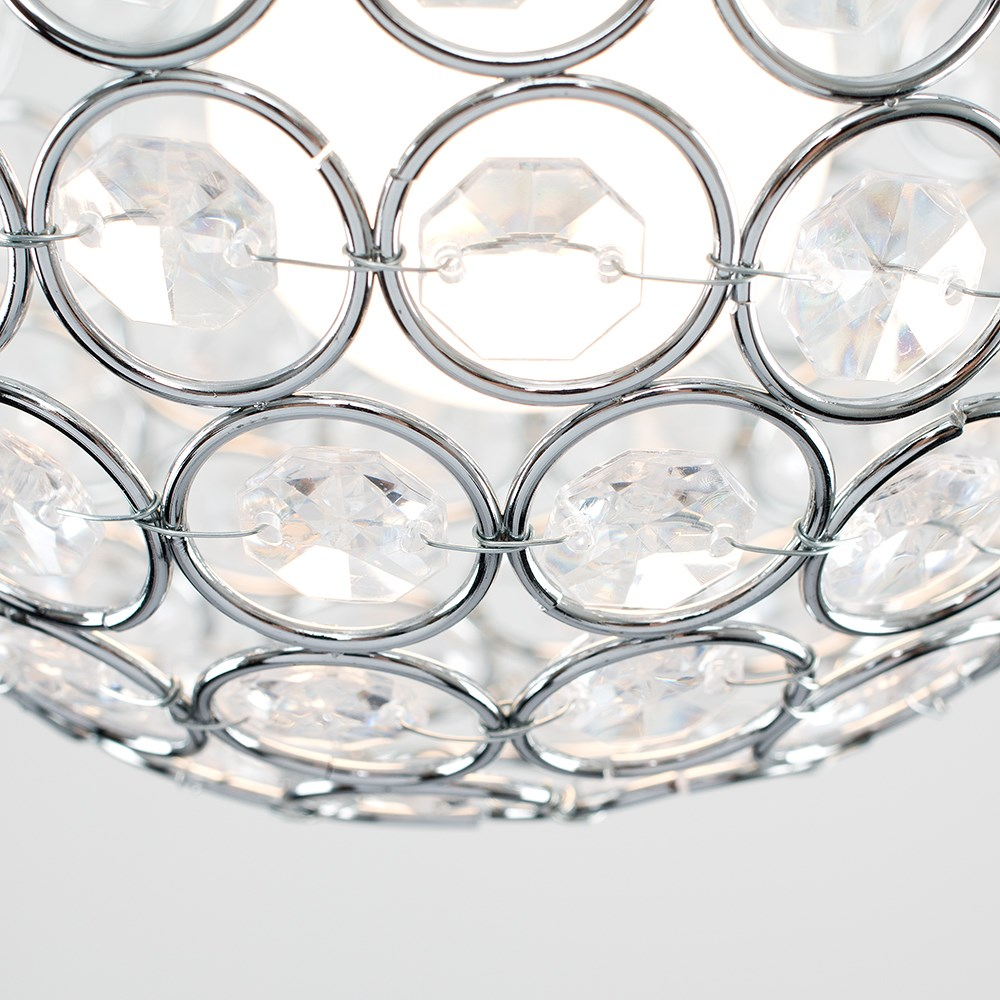 Modern-Chandelier-Easy-Fit-Ceiling-Pendant-Light-Shade-Acrylic-Glass-Shades thumbnail 20