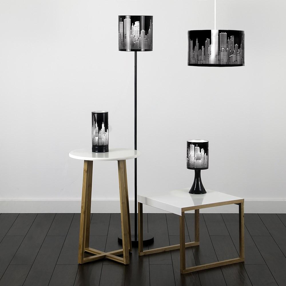 New york skyline designer touch home table lamp ceiling - Disenador de casas gratis ...