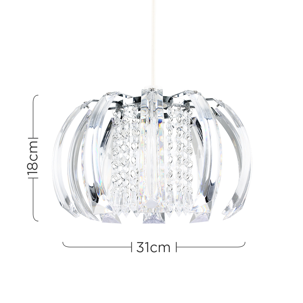Modern-Chandelier-Easy-Fit-Ceiling-Pendant-Light-Shade-Acrylic-Glass-Shades thumbnail 8