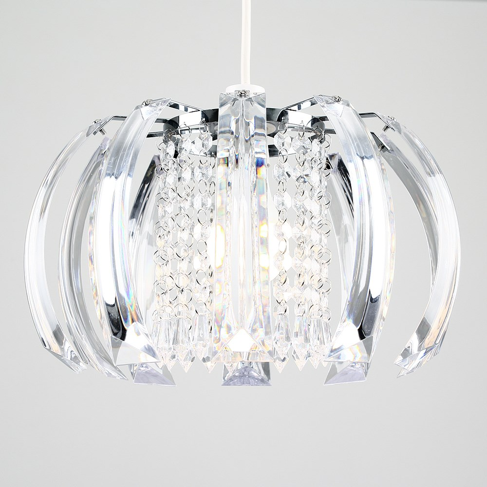 Modern-Chandelier-Easy-Fit-Ceiling-Pendant-Light-Shade-Acrylic-Glass-Shades thumbnail 5