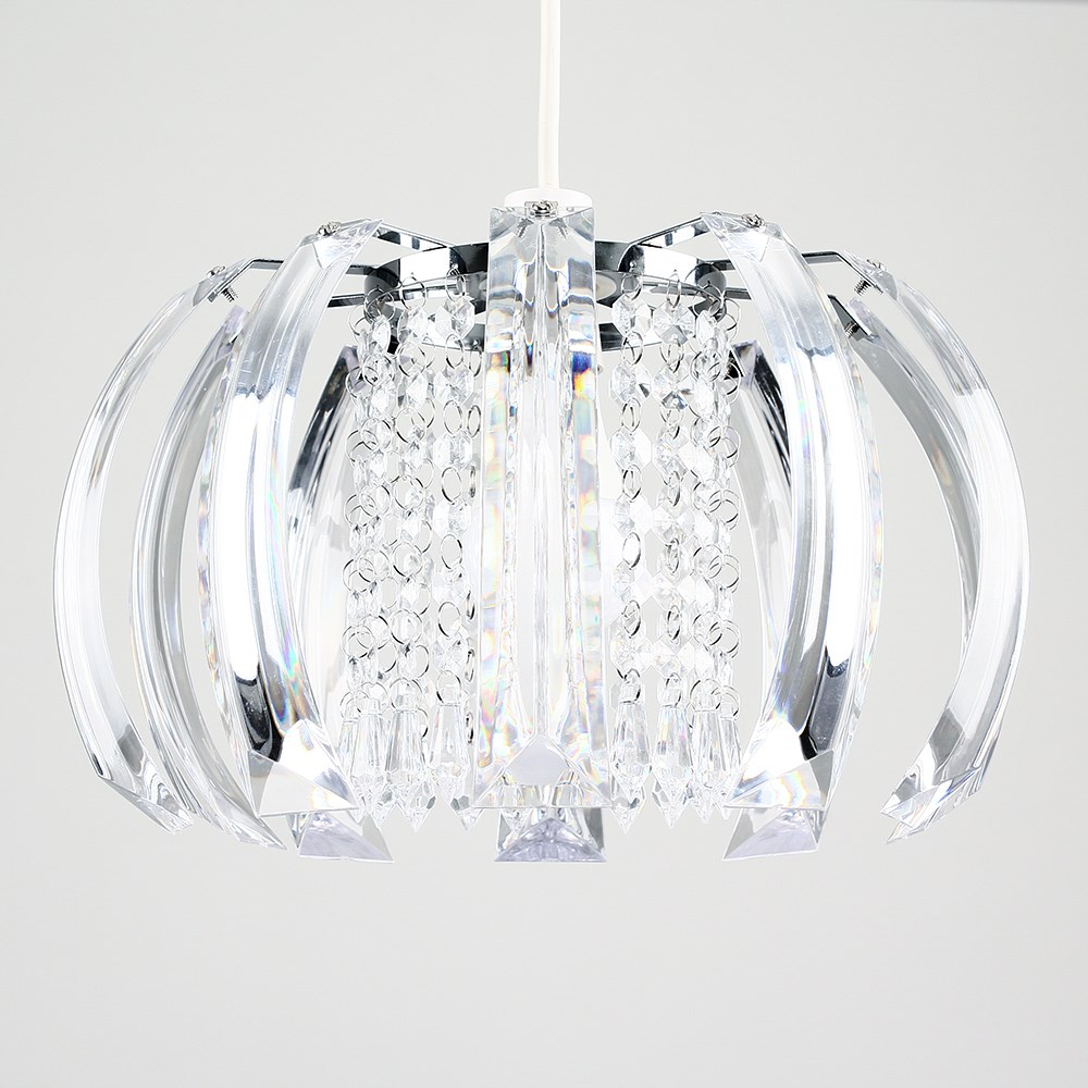 Modern-Chandelier-Easy-Fit-Ceiling-Pendant-Light-Shade-Acrylic-Glass-Shades thumbnail 4