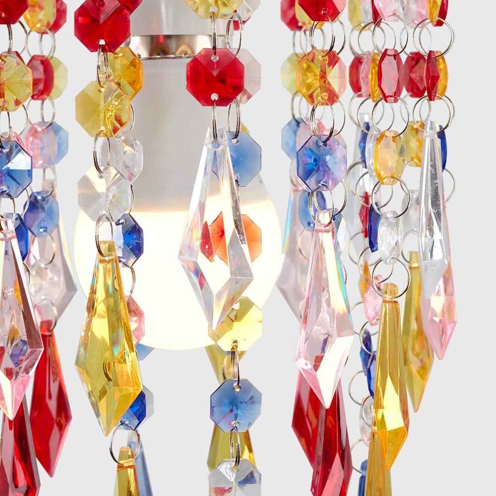 Moderno-Acrilico-Cristallo-Soffitto-Ciondolo-Luce-Ombra-Jewel-lampadari-Tonalita-Nuovo miniatura 31