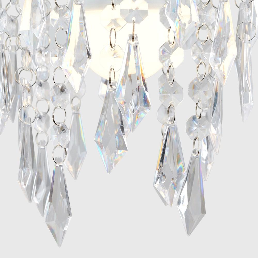 Moderno-Acrilico-Cristallo-Soffitto-Ciondolo-Luce-Ombra-Jewel-lampadari-Tonalita-Nuovo miniatura 14