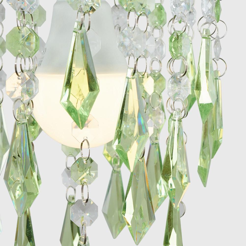Moderno-Acrilico-Cristallo-Soffitto-Ciondolo-Luce-Ombra-Jewel-lampadari-Tonalita-Nuovo miniatura 26