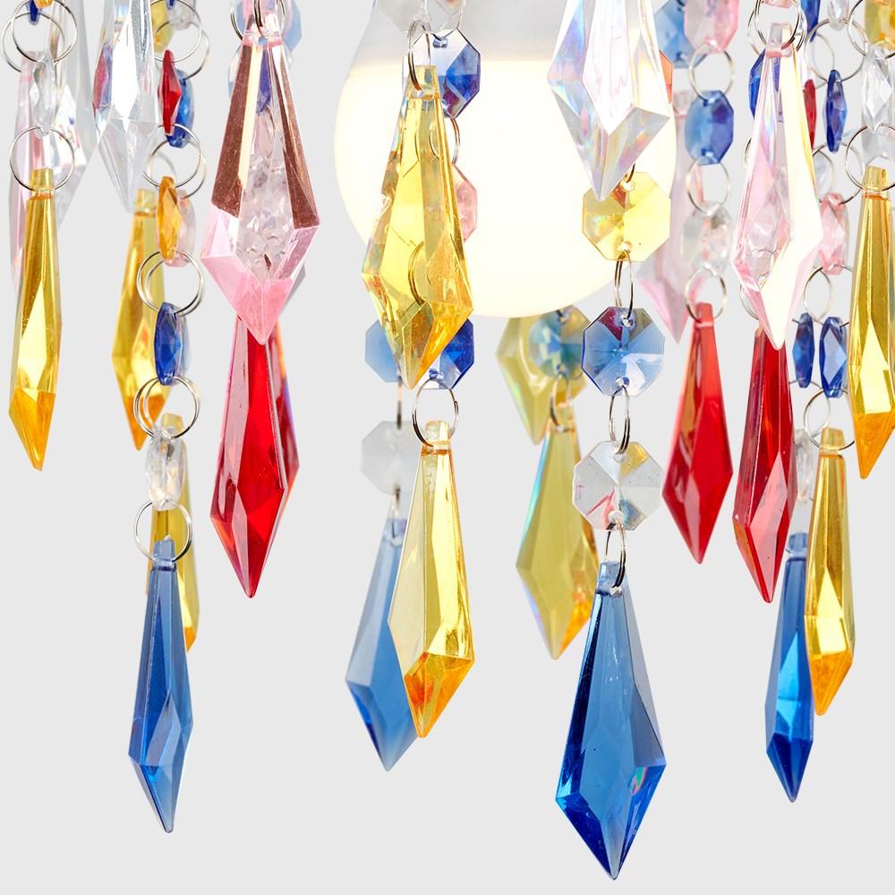 Moderno-Acrilico-Cristallo-Soffitto-Ciondolo-Luce-Ombra-Jewel-lampadari-Tonalita-Nuovo miniatura 30