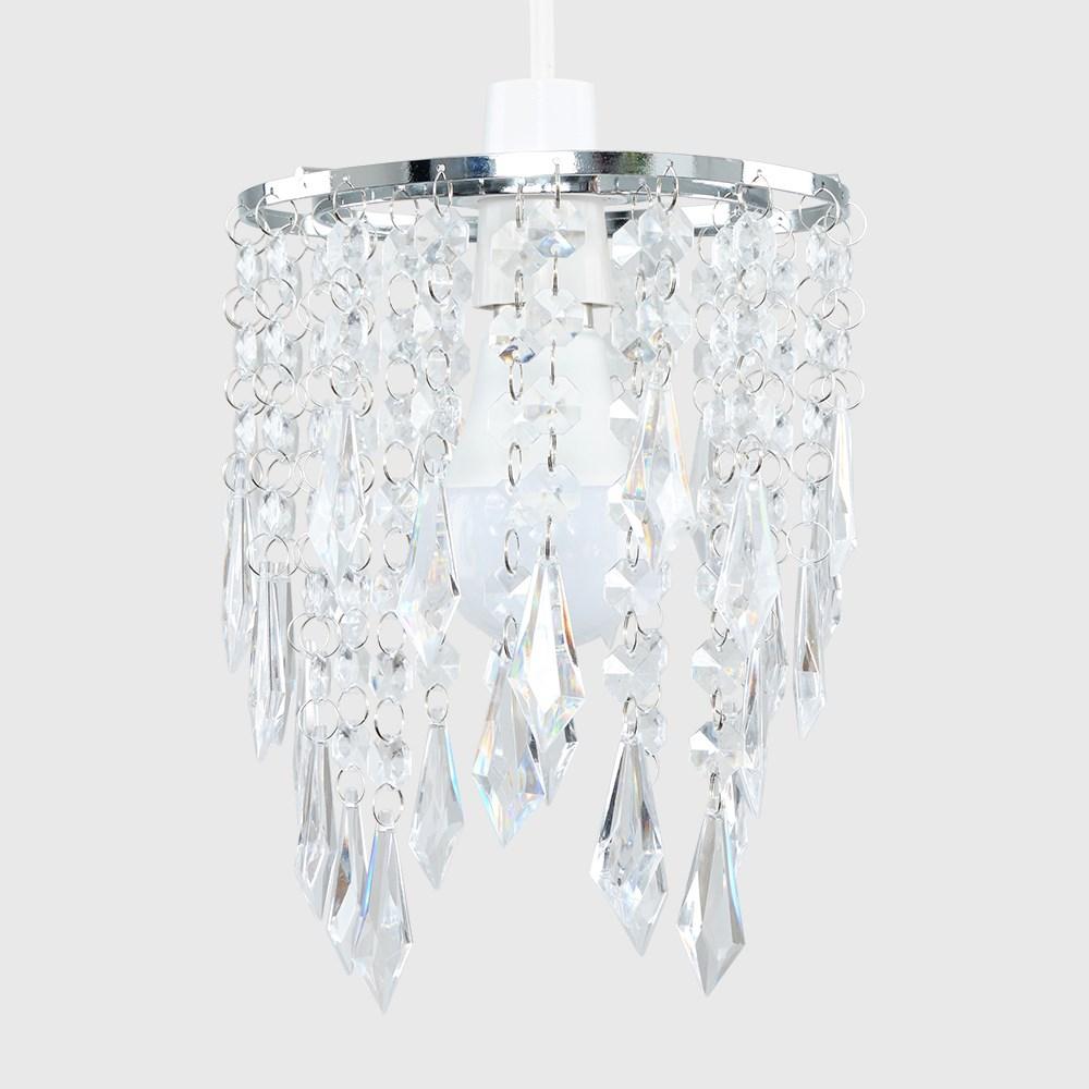 Lampara-Colgante-de-Techo-de-Cristal-Acrilico-Moderna-sombra-Joya-Candelabros-Tonos-Nuevo miniatura 11