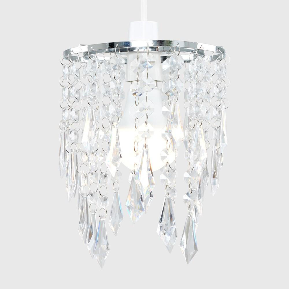 Lampara-Colgante-de-Techo-de-Cristal-Acrilico-Moderna-sombra-Joya-Candelabros-Tonos-Nuevo miniatura 12
