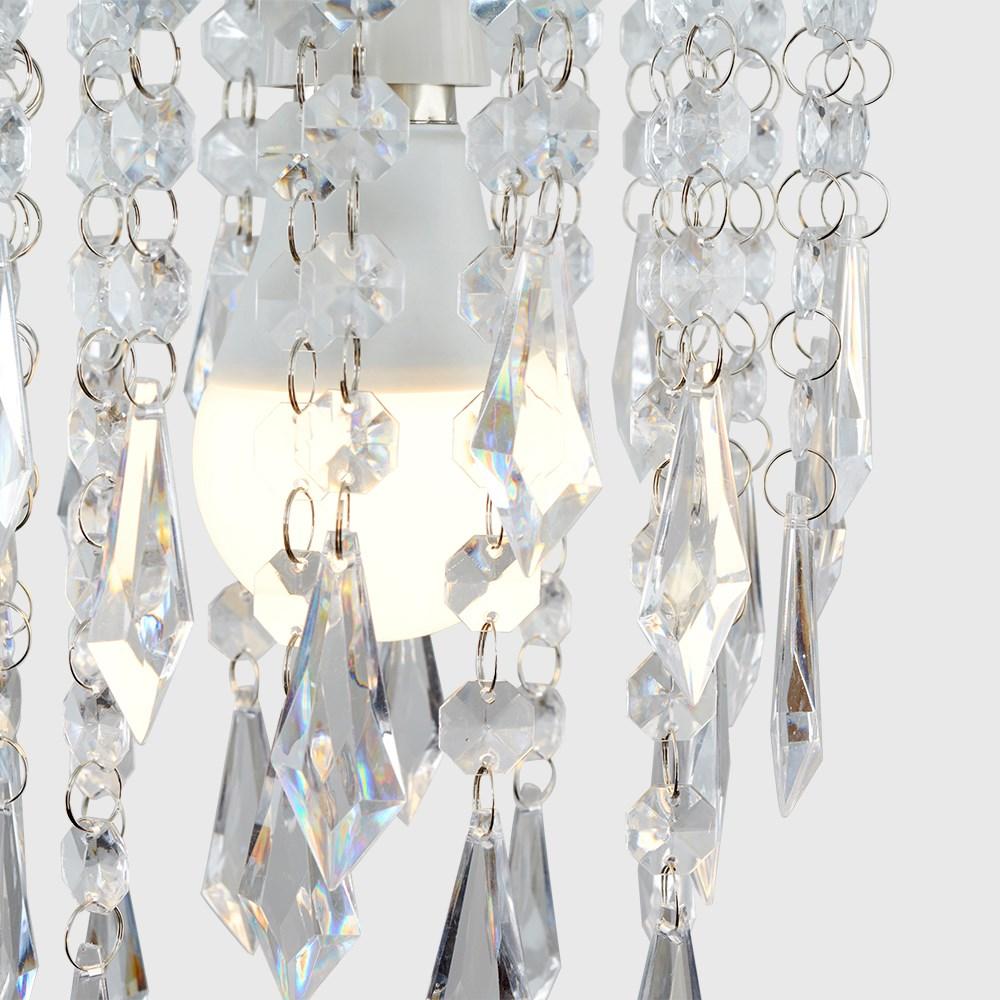 Moderno-Acrilico-Cristallo-Soffitto-Ciondolo-Luce-Ombra-Jewel-lampadari-Tonalita-Nuovo miniatura 13
