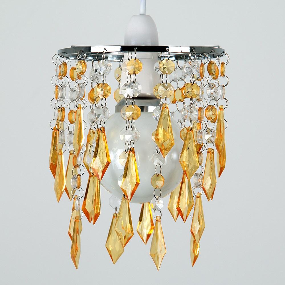 Moderno-Acrilico-Cristallo-Soffitto-Ciondolo-Luce-Ombra-Jewel-lampadari-Tonalita-Nuovo miniatura 33