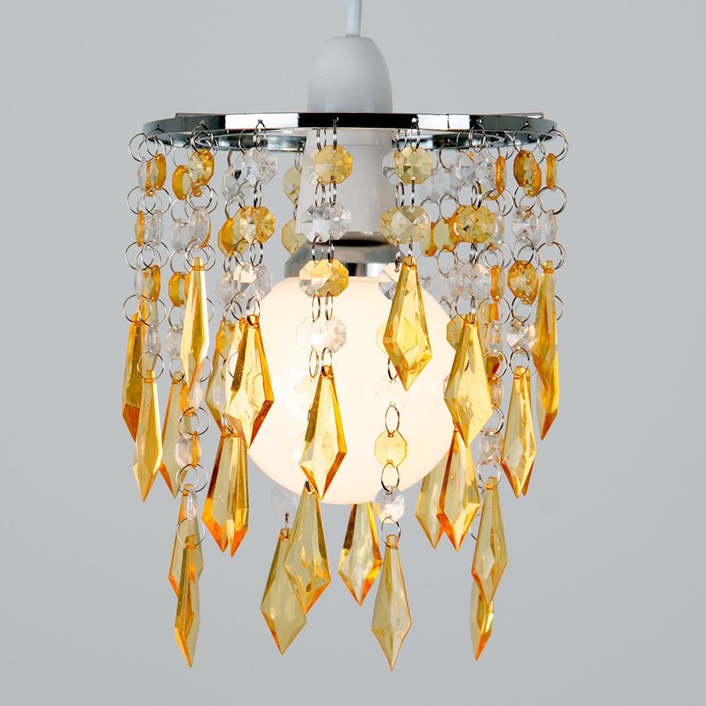 Moderno-Acrilico-Cristallo-Soffitto-Ciondolo-Luce-Ombra-Jewel-lampadari-Tonalita-Nuovo miniatura 34