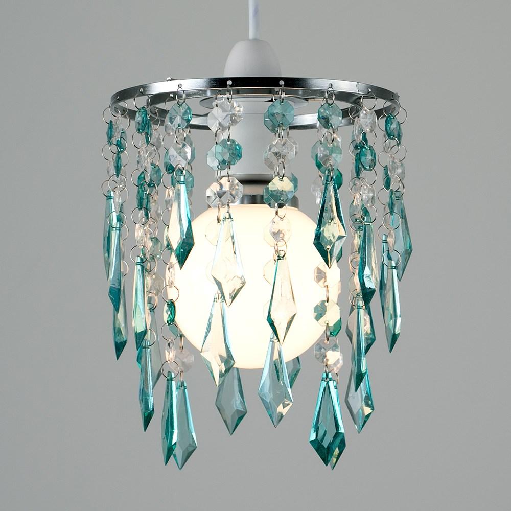Moderno-Acrilico-Cristallo-Soffitto-Ciondolo-Luce-Ombra-Jewel-lampadari-Tonalita-Nuovo miniatura 47