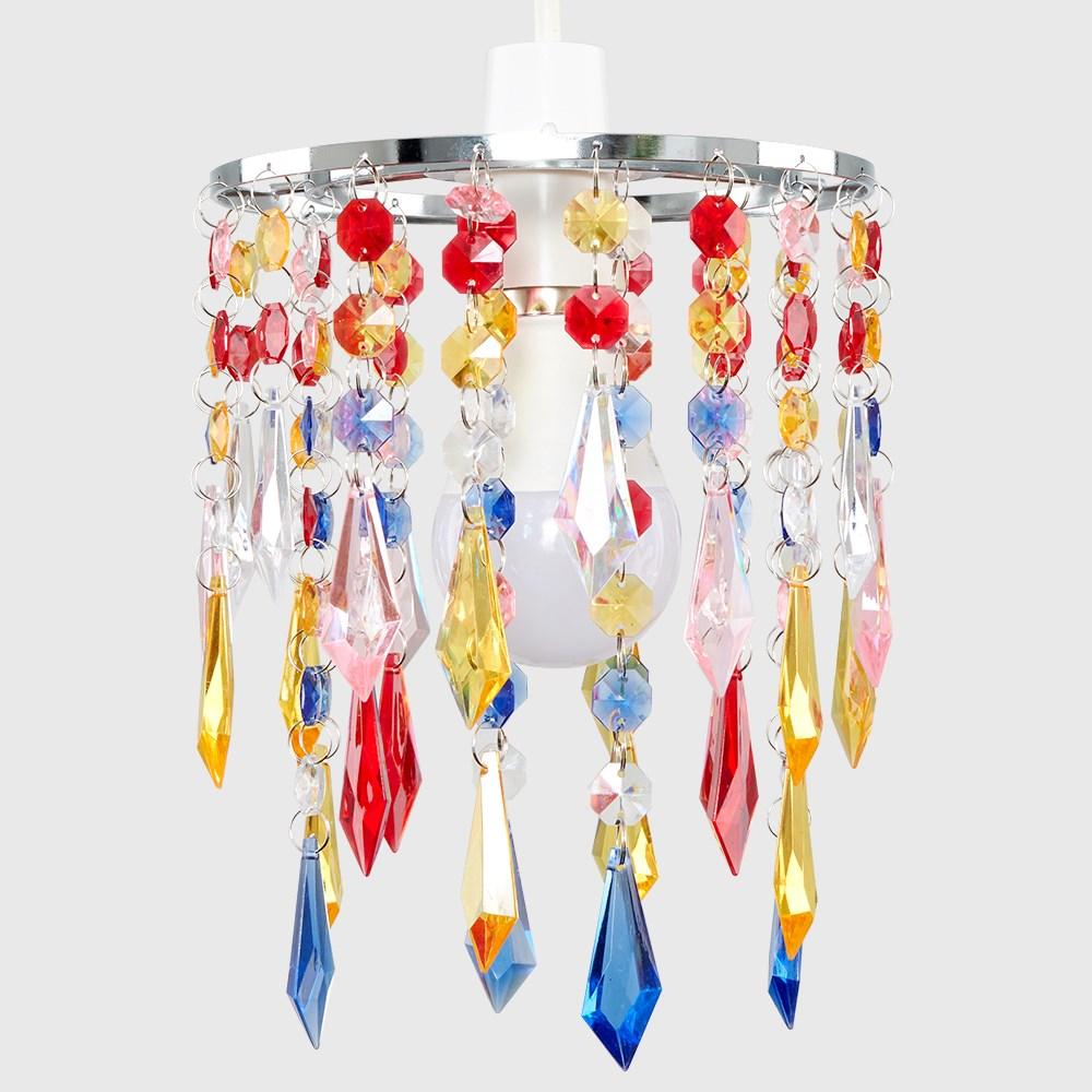 Moderno-Acrilico-Cristallo-Soffitto-Ciondolo-Luce-Ombra-Jewel-lampadari-Tonalita-Nuovo miniatura 28