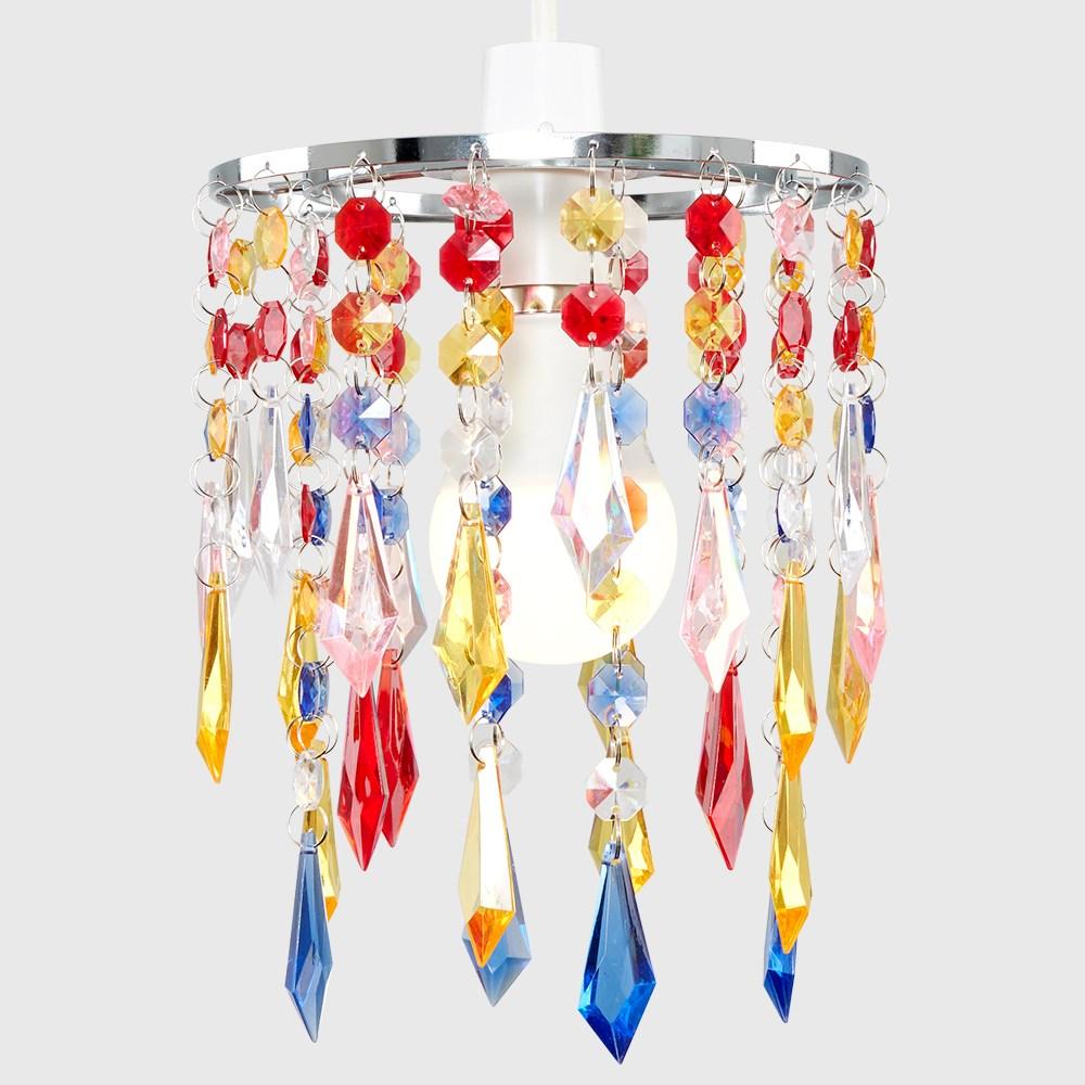 Moderno-Acrilico-Cristallo-Soffitto-Ciondolo-Luce-Ombra-Jewel-lampadari-Tonalita-Nuovo miniatura 29