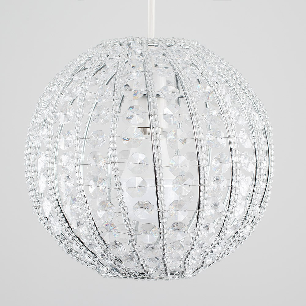 Modern-Chandelier-Easy-Fit-Ceiling-Pendant-Light-Shade-Acrylic-Glass-Shades thumbnail 35
