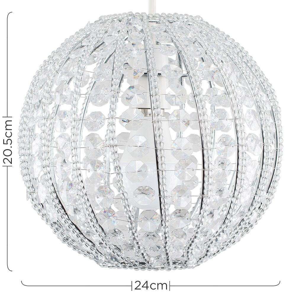 Modern-Chandelier-Easy-Fit-Ceiling-Pendant-Light-Shade-Acrylic-Glass-Shades thumbnail 40