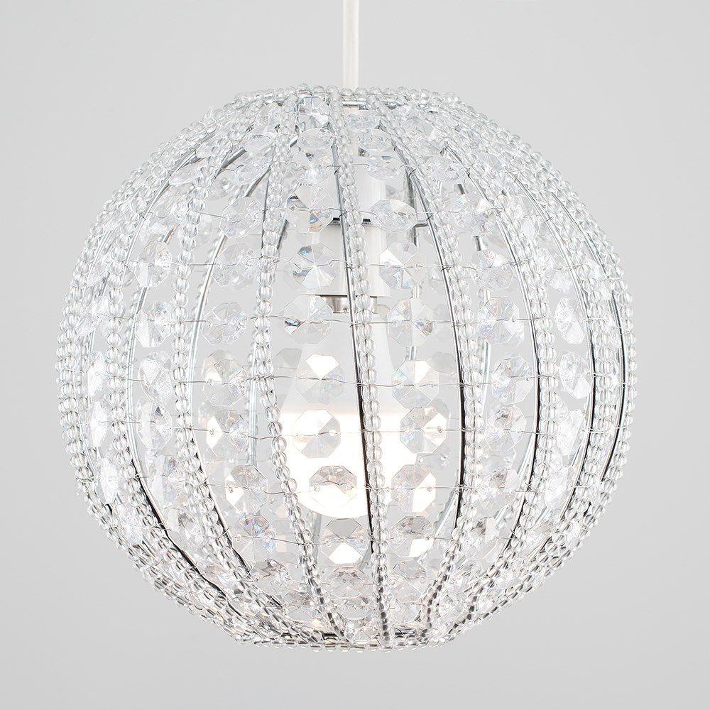 Modern-Chandelier-Easy-Fit-Ceiling-Pendant-Light-Shade-Acrylic-Glass-Shades thumbnail 36