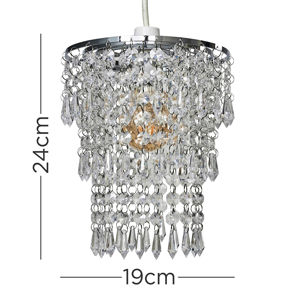 Modern-Chandelier-Easy-Fit-Ceiling-Pendant-Light-Shade-Acrylic-Glass-Shades thumbnail 29