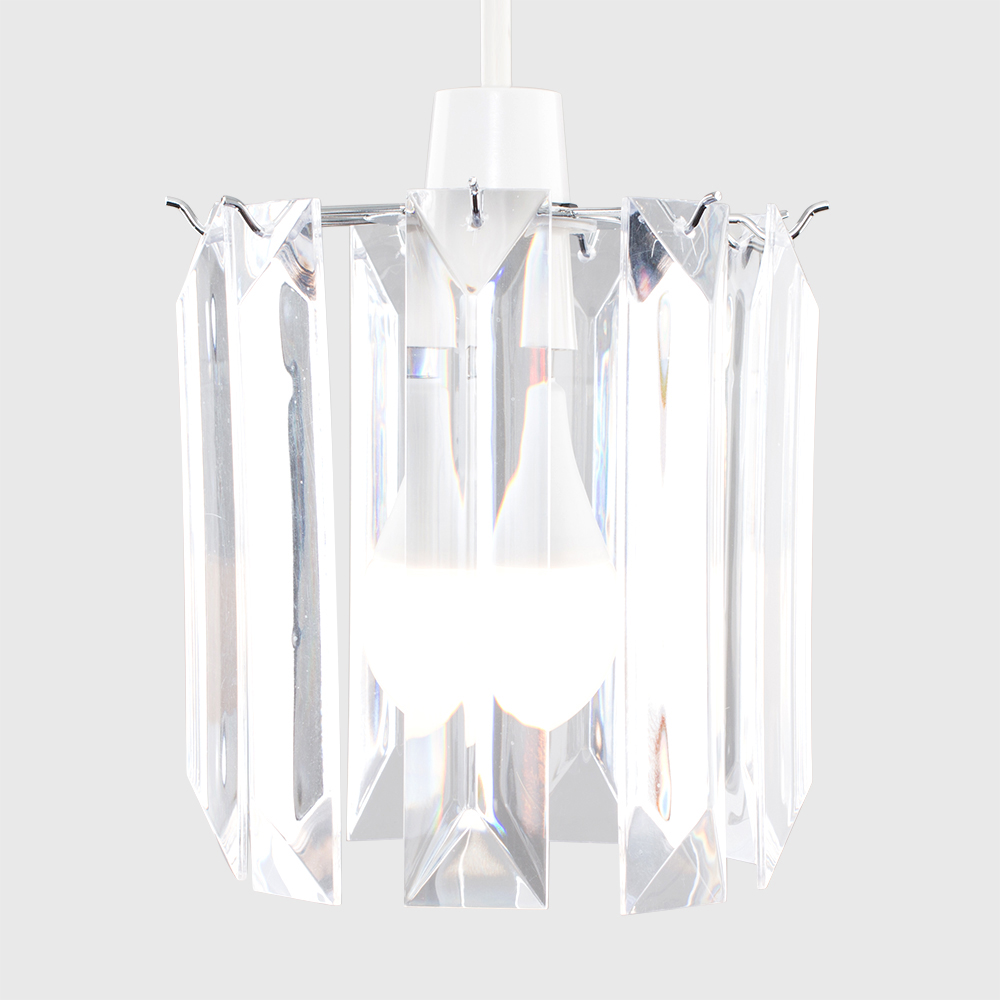 Modern-Chandelier-Easy-Fit-Ceiling-Pendant-Light-Shade-Acrylic-Glass-Shades thumbnail 12