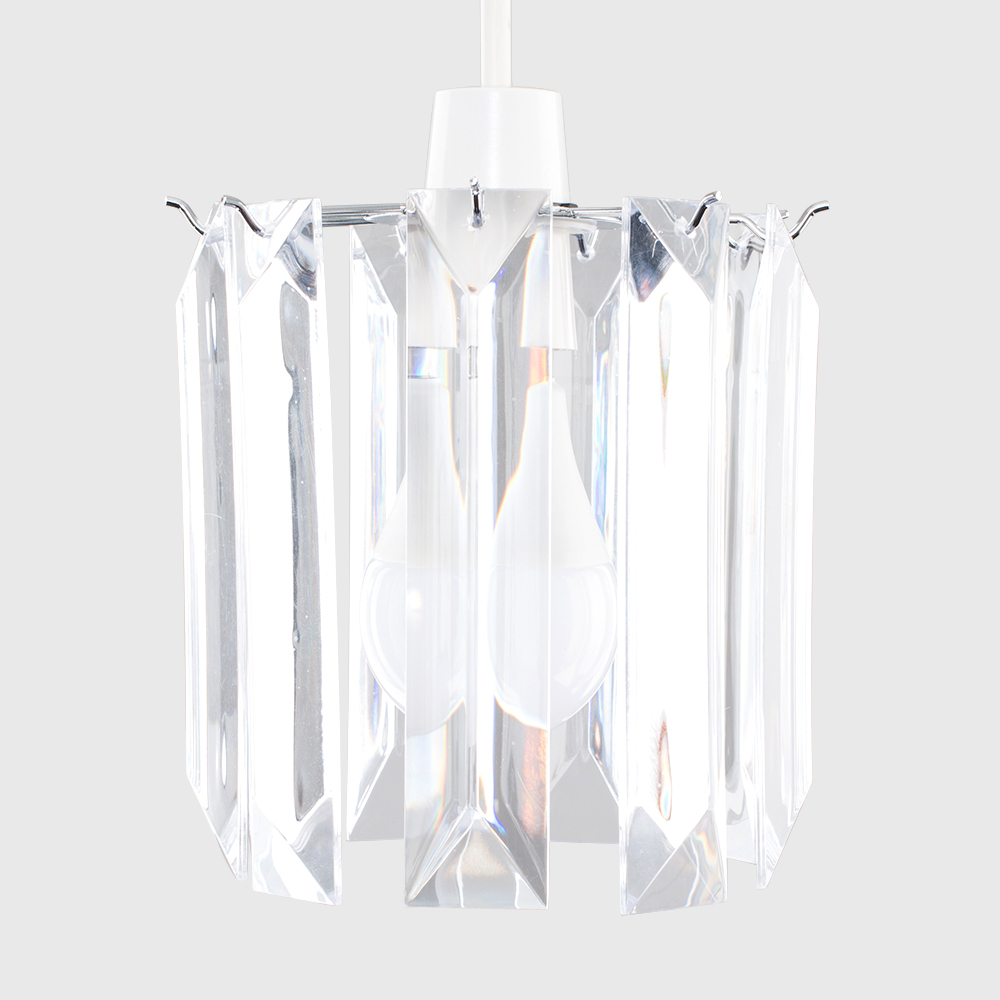 Modern-Chandelier-Easy-Fit-Ceiling-Pendant-Light-Shade-Acrylic-Glass-Shades thumbnail 11