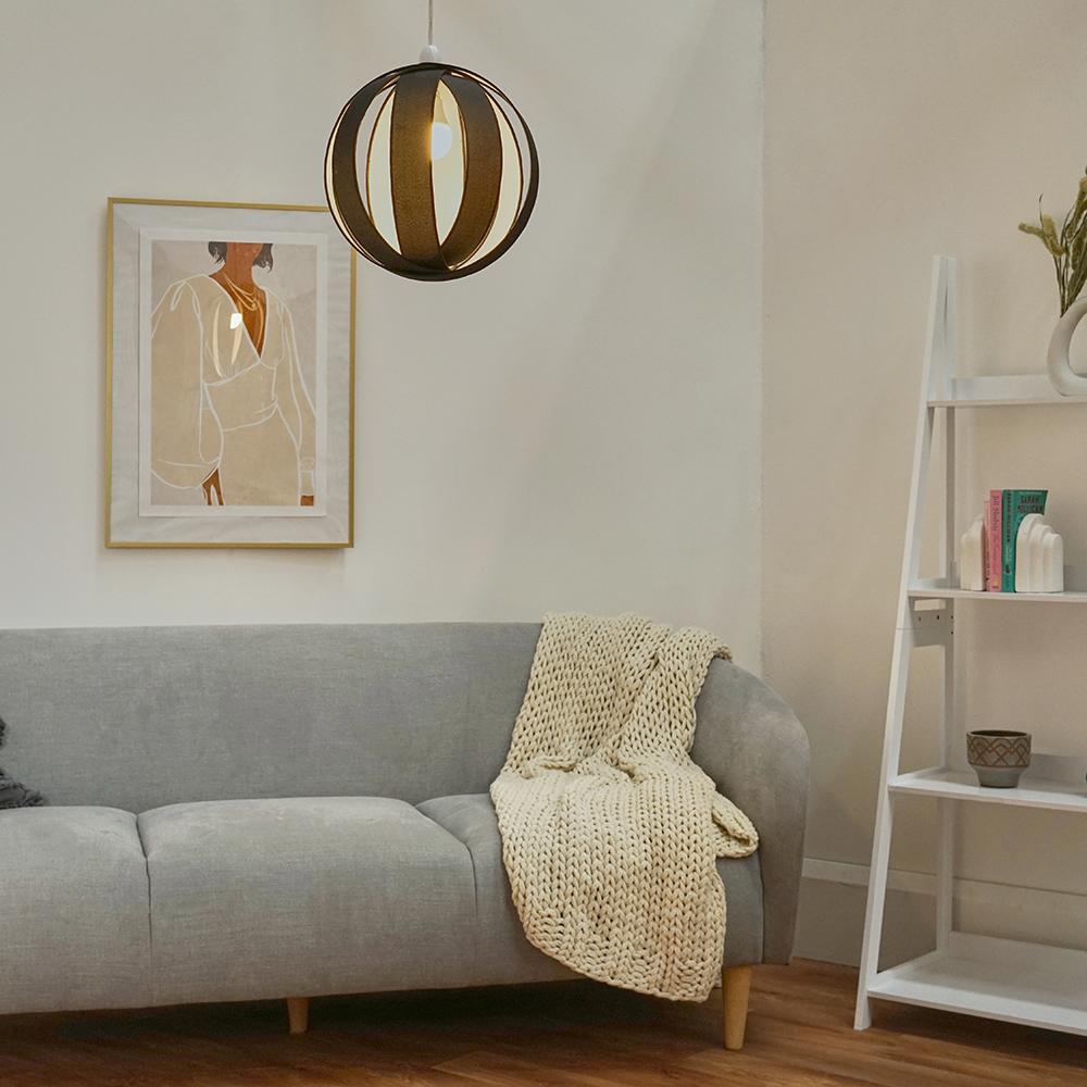 Minisun-Globe-DEL-plafond-lumiere-pendentif-nuances-Abat-jour-eclairage-Ampoule-DEL miniature 4