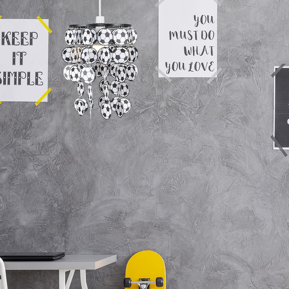 Children-039-s-Ceiling-Pendant-Shade-Kids-Football-Bedroom-Lampshades-Easy-Fit-Light thumbnail 7