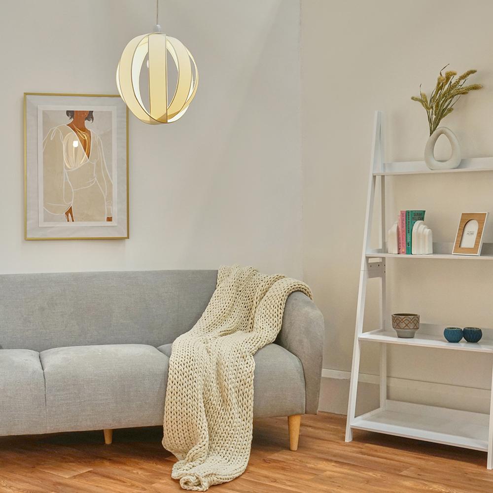 Minisun-Globe-DEL-plafond-lumiere-pendentif-nuances-Abat-jour-eclairage-Ampoule-DEL miniature 23