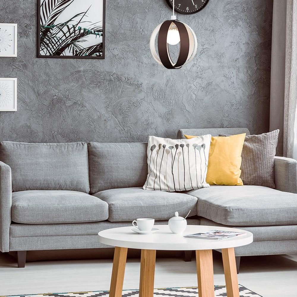 Minisun-Globe-DEL-plafond-lumiere-pendentif-nuances-Abat-jour-eclairage-Ampoule-DEL miniature 19