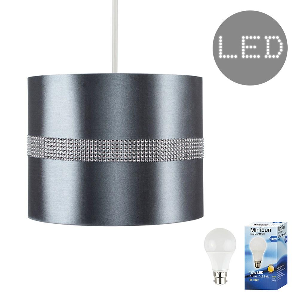 Diamante-non-elettrico-in-Tessuto-Cotone-Tamburo-Tonalita-Tavolo-O-Lampadario-Lampada-da-terra miniatura 14
