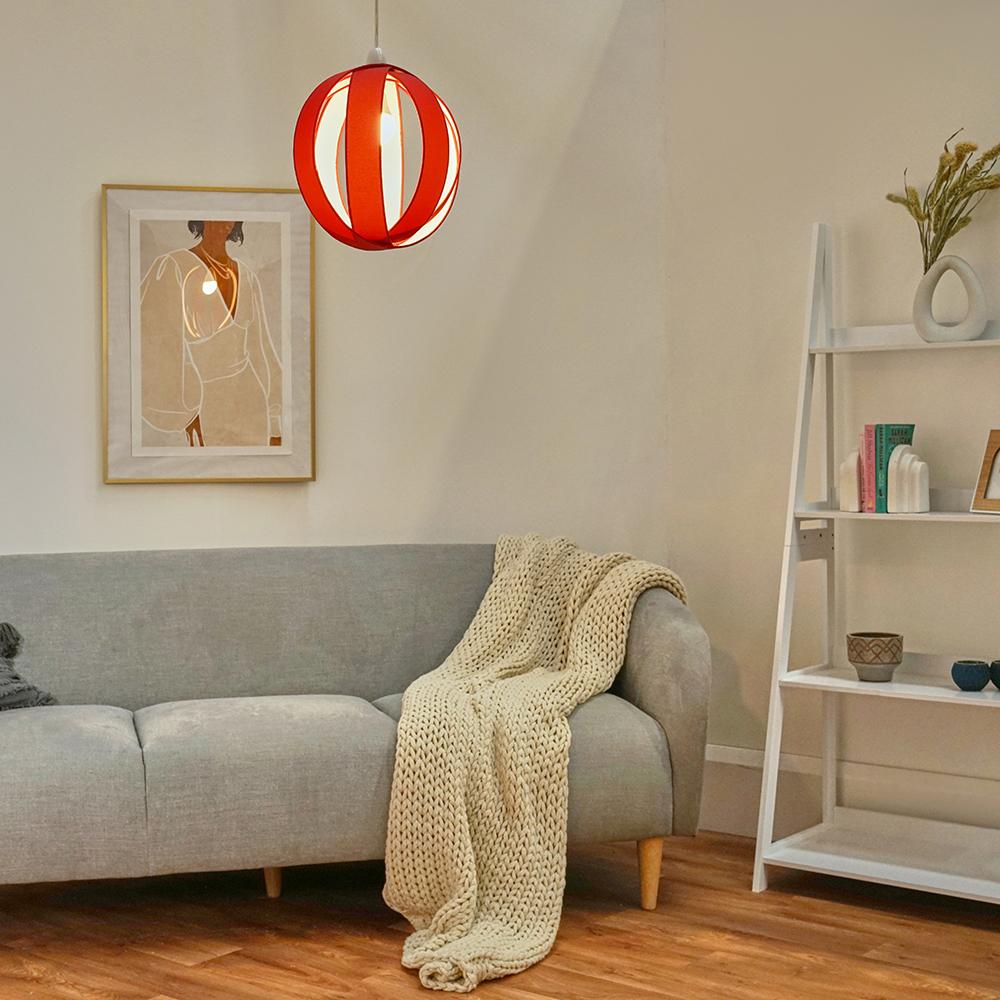 Minisun-Globe-DEL-plafond-lumiere-pendentif-nuances-Abat-jour-eclairage-Ampoule-DEL miniature 43