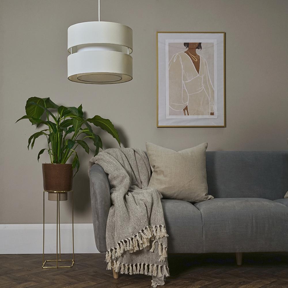Modern-Easy-Fit-Cotton-Drum-Ceiling-Pendant-Lampshades-Modern-Light-Lighting thumbnail 14