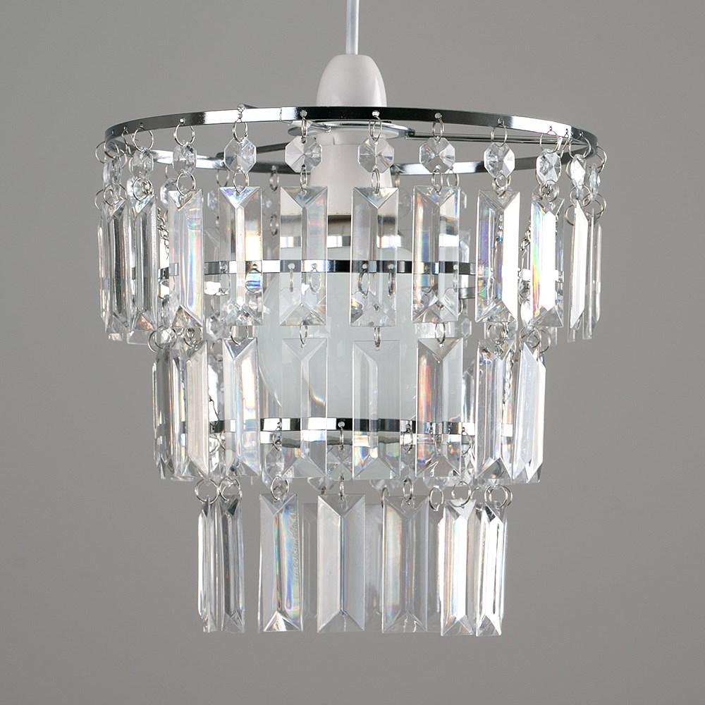 Modern-3-Tier-Ceiling-Pendant-Acrylic-Crystal-Light-Lamp-Shade-Chandelier-Shade thumbnail 9