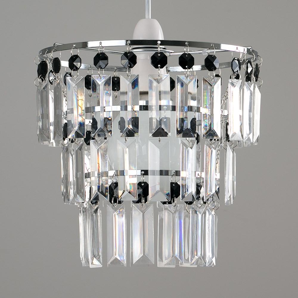 Modern-3-Tier-Ceiling-Pendant-Acrylic-Crystal-Light-Lamp-Shade-Chandelier-Shade thumbnail 3